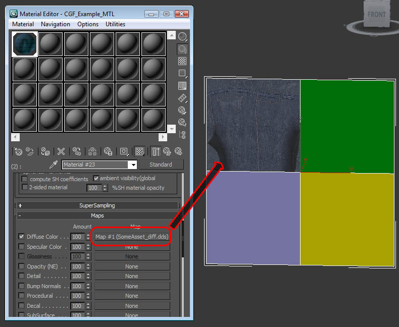 How to create material from 3ds Max with CryENGINE2 Exporter