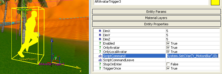 Using an ARAvatarTrigger's ScriptCommand Property